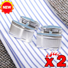 Honey Bear High Quality Silver Stainless Steel  Mens Cufflinks for Wedding Xmas