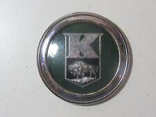 Vintage 1940's Kaiser Horn Button Emblem Badge Script Trim Metal Chrome Rare