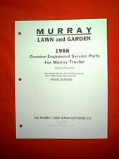 MURRAY GARDEN / YARD TRACTOR SNOW PLOW ATTACHMENT MODEL 8-24400 PARTS MANUAL