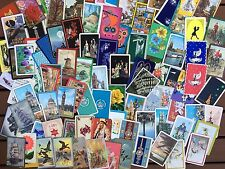 Playing Swap Cards 100 Assorted Genuine Vintage Birds Cats Horse People SUPER #7