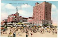 1944 Postmarked Postcard Hotel Chelsea Atlantic City New Jersey NJ