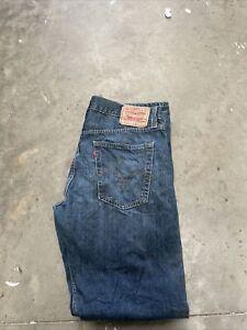Mens Levi Strauss 514 Slim Straight Jean - W36 L34 - Gritty Mid/Dark Blue