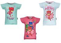 Girls Kids Children Pj Masks Short Sleeve Tee Tshirt Top Age 3-8 years