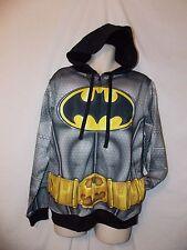 mens DC comics batman sweatshirt  hoodie jacket L nwt armour