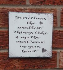 Winnie the pooh sometimes the smallest things heart shabby & chic plaque sign