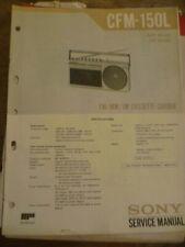 Sony CFM-150L  Radio Cassette Recorder Service Manual