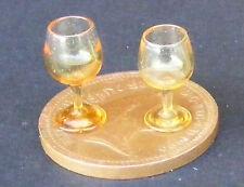 Gafas Tinte Amarillo 1:12 escala 2 Casa de Muñecas en Miniatura Bebida Accesorio GLA1