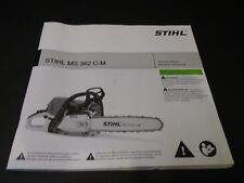 Stihl MS 362 C-M Chainsaw Instruction Owners Manual NEW