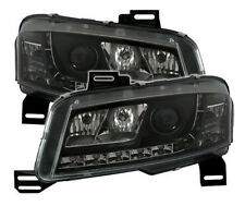 Black clear finish headlights with LED DRL lights for FIAT STILO 192 01-07