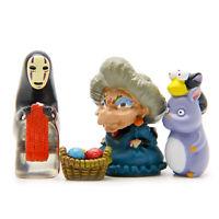 4Pcs/Set Spirited Away Zeniba No Face Man Figure Toy Film Scene Home Dec DIY