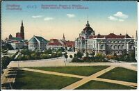 Ansichtskarte Straßburg / Strasbourg - Kaiserpalast, Theater, Münster 1913