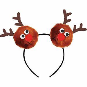 Child Reindeer Pom-Pom Headband