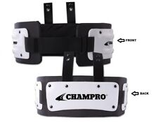 Champro Sports YOUTH Football Rib & Back Protector with Hardware, Adjustable