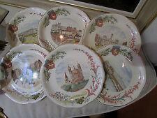 6 anciennes assiettes faience vues de lyon republique bellecour fourviere 1900