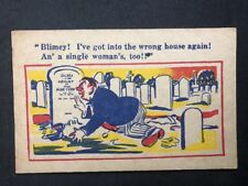 Unusual Vintage Postcard: Artist Signed: Donald McGill #A489: Blimey !