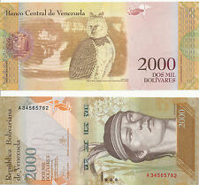 - Venezuela 2000 Bolivares 2016 (2017) UNC Pick New