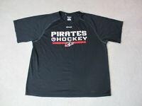 Reebok Portland Pirates Shirt Adult Extra Large Black NHL AHL Hockey Dri Fit Men