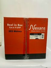 Nexans Grey Ethernet Cable 305m 8-Core LAN Cable Cat 6 F/UTP 10268285 New