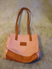 VALENTINA PEBBLED GENUINE LEATHER DUSTY ROSE SHOULDER BAG THREE POCKET