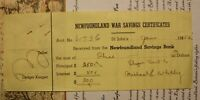 1952 WWII NEWFOUNDLAND WAR SAVINGS REDEMPTION CERTIFICATE