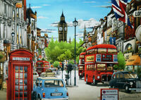 500 Pieces Jigsaw Puzzle London Buses, Cab & Big Ben - New & Sealed