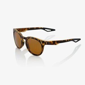 100% Active Performance Sunglasses Campo Soft Tact Havana Bronze PEAKPOLAR Lens