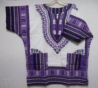 Dashiki Mens Womens Shirt African Top Hippie Vintage Boho Tribal Blouse One Size