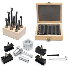 "Mini Quick Change Tool Post Holder Set +9Pcs 3/8"" Boring Bar+5x Indexable 3/8''"