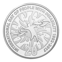 Australia 2017 25th Anniv International Day People with Disability 20c UNC Coin