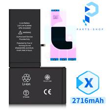 Ersatz Akku für Original iPhone X inkl. Klebepad Akku Batterie Ersatz 2716 mAh