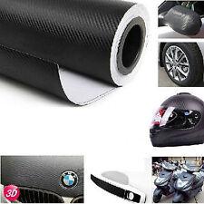 3D Black Carbon Fiber Vinyl Wrap Roll Self Adhesive Car Sticker 1.27M x 30cm