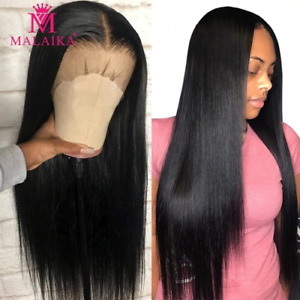 Straight 13x4 Lace Front Human Hair Wigs Brazilian Hair Full Transparent Wigs