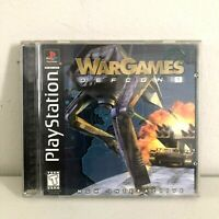 War Games Defcon 1 Playstation 1 PS1 Complete with Manual Tested