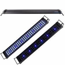 "24""-36"" White&Blue LED Light  Extendable Bracket 2 Mode Aquarium Fish Tank FOWLR"