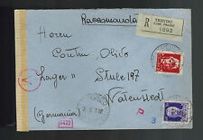 1943 Treviso italy to Germany Cover Watenstedt Concentration Camp KZ
