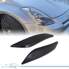 ABS For 350Z Z33 Fairlady Z Coupe 2D Headlight Cover 03-08 Eyelid Eyebrows