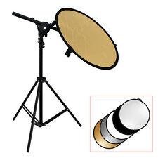 TARION Studio Photo Kit Bracket Arm + Light Stand + 5in1 60cm Reflector Disc