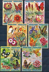 [P15959] Burundi 1973 : Butterflies - Good Set VF MNH Airmail Stamps - $90