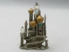 New Fantasy Mythical & Castles Comstock Pewter Jeweled Castle with Crystal