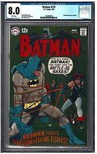 BATMAN #210 CGC 8.0 (3/69) DC Comics white pages