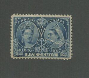 Canada Postage Stamp #54 Mint Hinged OG VF Damaged