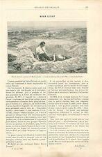 Manon Lescaut de Maurice Leloir Peintre à Paris GRAVURE ANTIQUE OLD PRINT 1892
