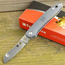 Spyderco Roadie N690Co Sheepsfoot Blade Gray FRN Handle Slipjoint Knife C189PGY