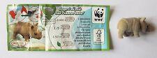 KINDER NATOONS WWF RINOCERONTE DC024 PERSONAGGIO CON CARTINA