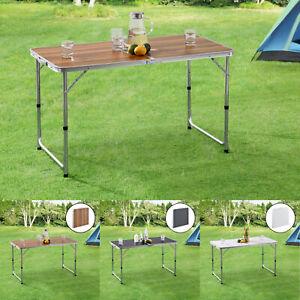 Campingtisch Klapptisch Koffertisch Falttisch Aluminium Camping Tisch 120x60cm