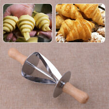 Dough Croissant Rolling Pin Roller Cutter Slicer Baking Bread DIY Tool Useful