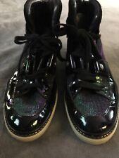 40a29063dc3 Jimmy Choo Belgravia Petrol Glitter high top sneakers men s size 42 Italy