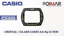 CRISTAL / GLASS CASIO ORIGINAL AA-83, AA-84 GRIS NOS -SIN JUNTA-