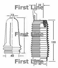 FSG3226 FIRST LINE STEERING GAITER KIT fits Citroen Saxo - power
