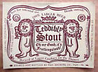 OLDE FROTHINGSLOSH ALE Beer LABEL, TEDDIBLY STOUT, Pittsburgh, PENNSYLVANIA Lion